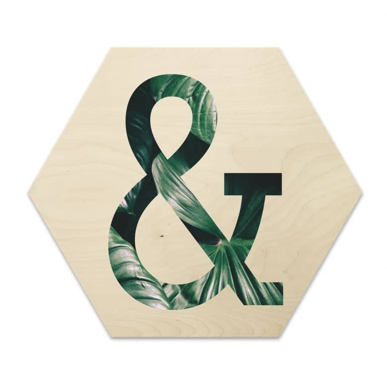Hexagon - Holz Birke-Furnier - Urban Jungle - Et-Zeichen 02