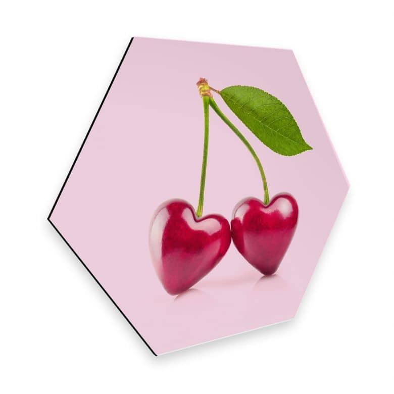 Esagoni in Alu-dibond Fuentes - Cherry Love
