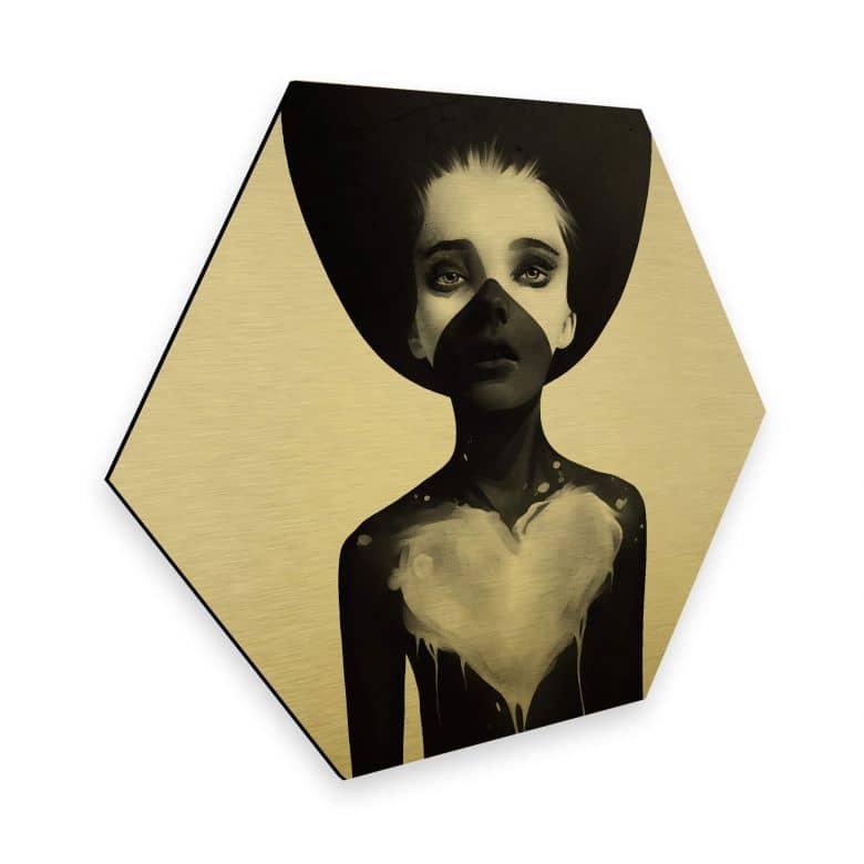 Hexagon - Alu-Dibond-Goldeffekt Ireland - Hold on