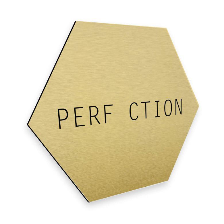 Hexagon - Alu-Dibond-Goldeffekt Nordic Creators - Perfection