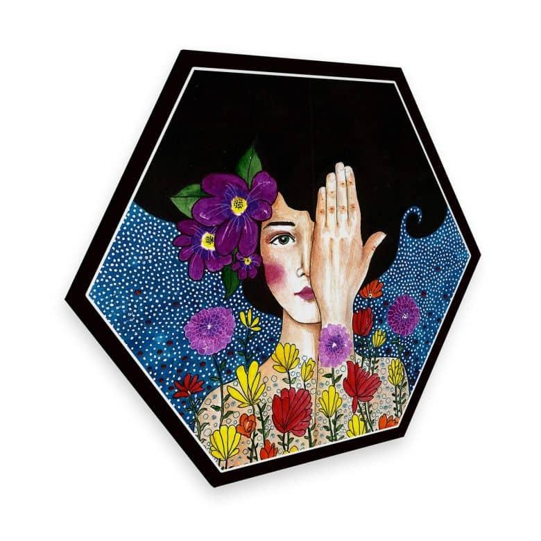Hexagon alu-dibond - Hülya - Losing Memories