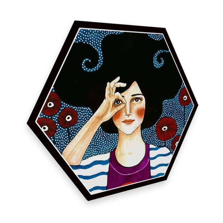 Hexagon alu-dibond - Hülya - Proud