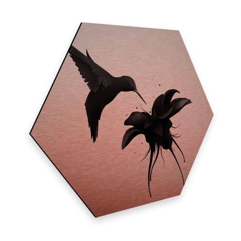 Hexagon - Alu-Dibond-Kupfereffekt Ireland - Chorum - Kolibri