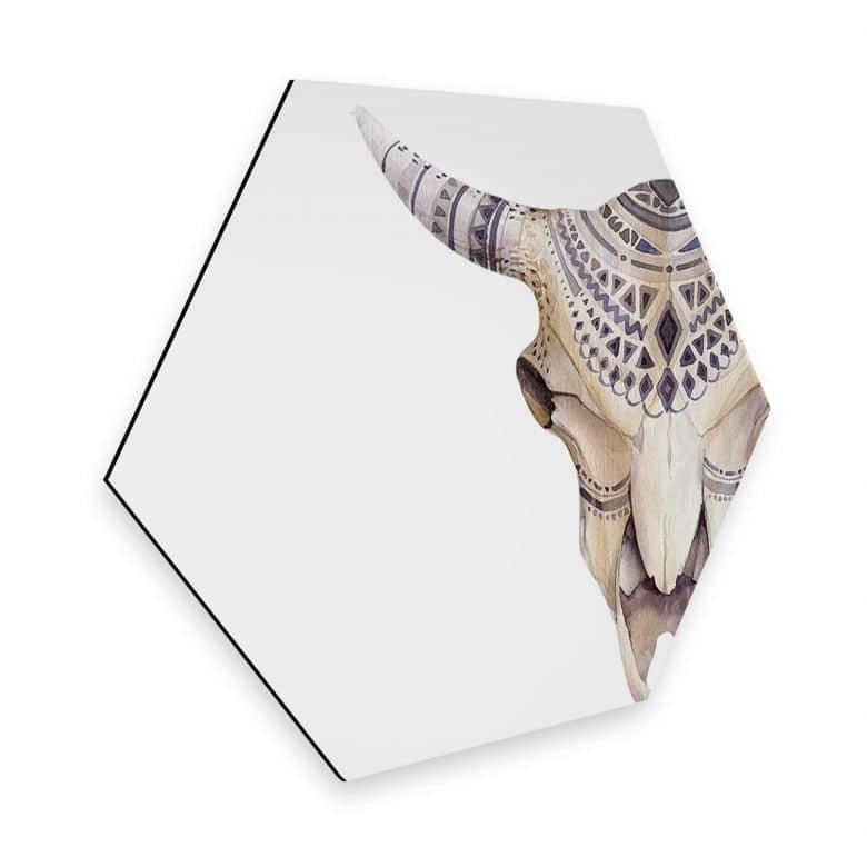Hexagon - Alu-Dibond - Kvilis - Boho Skull