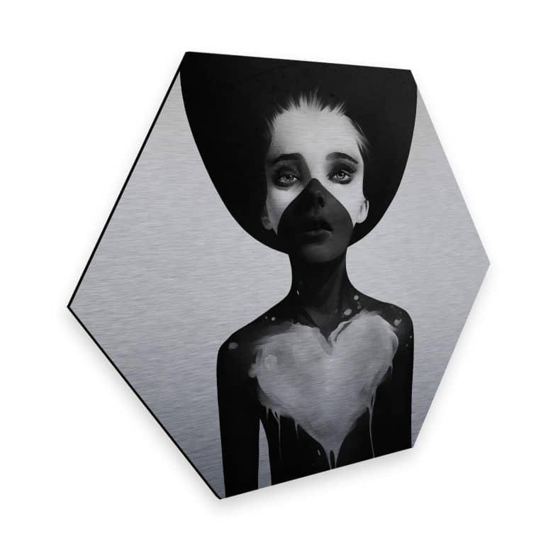 Hexagon - Alu-Dibond-Silbereffekt Ireland - Hold on