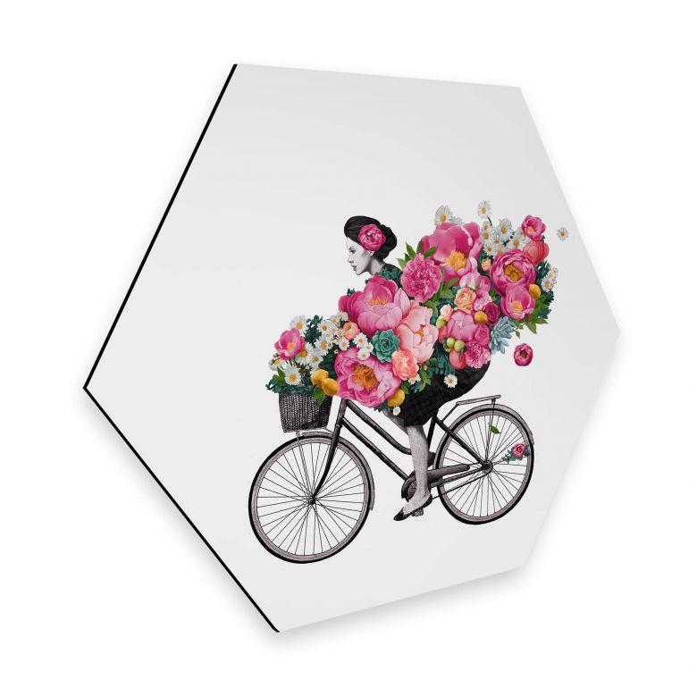 Hexagon - Alu-Dibond Graves - Flora Bicycle