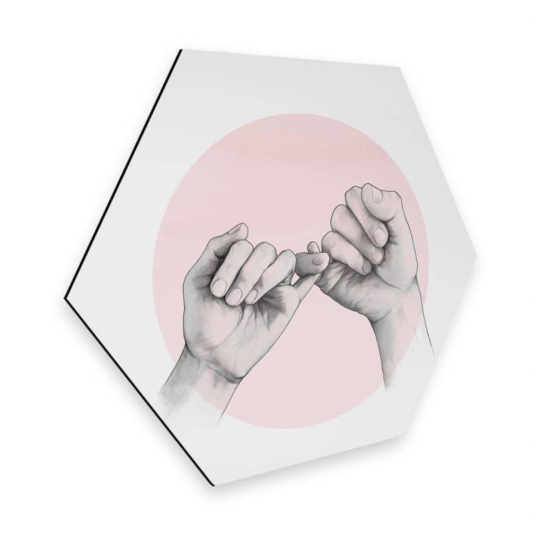 Hexagon - Alu-Dibond Graves - Pinky swear