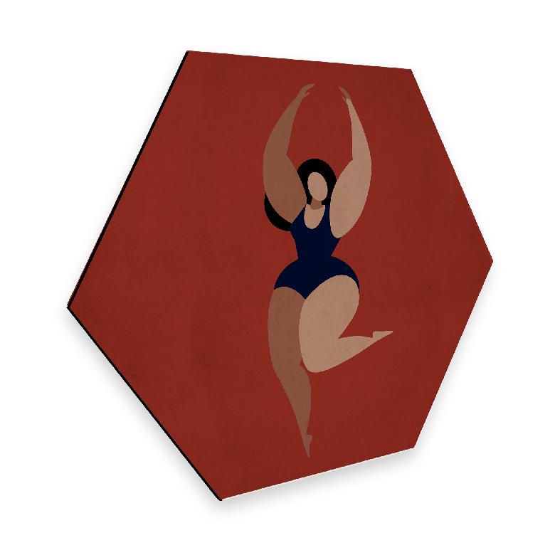Hexagon - Alu-Dibond Kubistika - Feel good