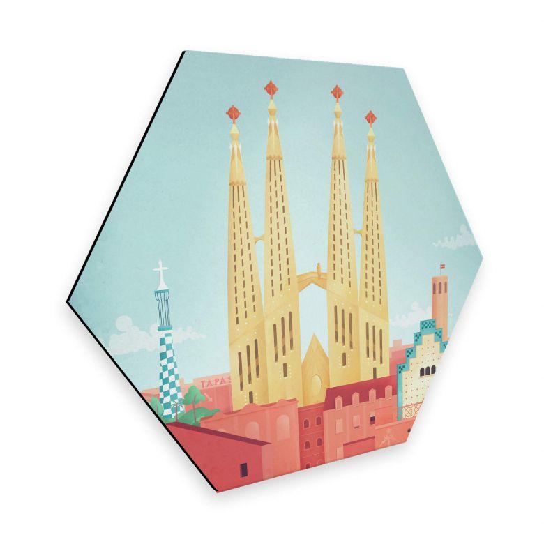 Hexagon - Alu-Dibond Rivers - Barcelona