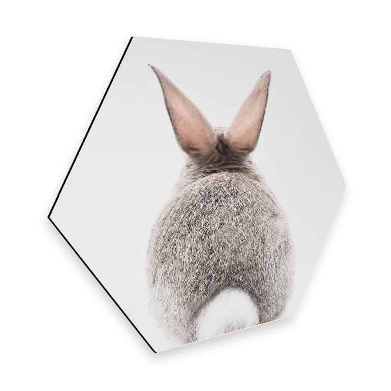 Hexagon Alu-Dibond - Sisi & Seb - Hi Bunny