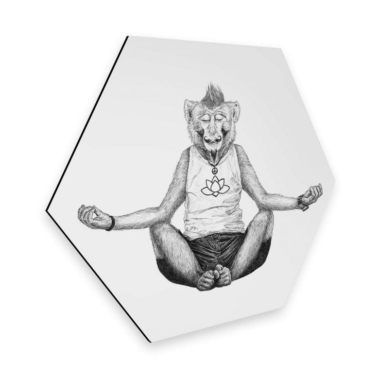Hexagon - Alu-Dibond Kools - Monkey Yoga