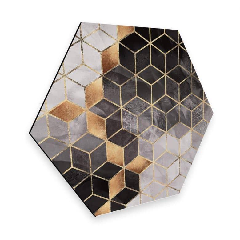 Hexagon Dibond Fredriksson - Smoky Cubes