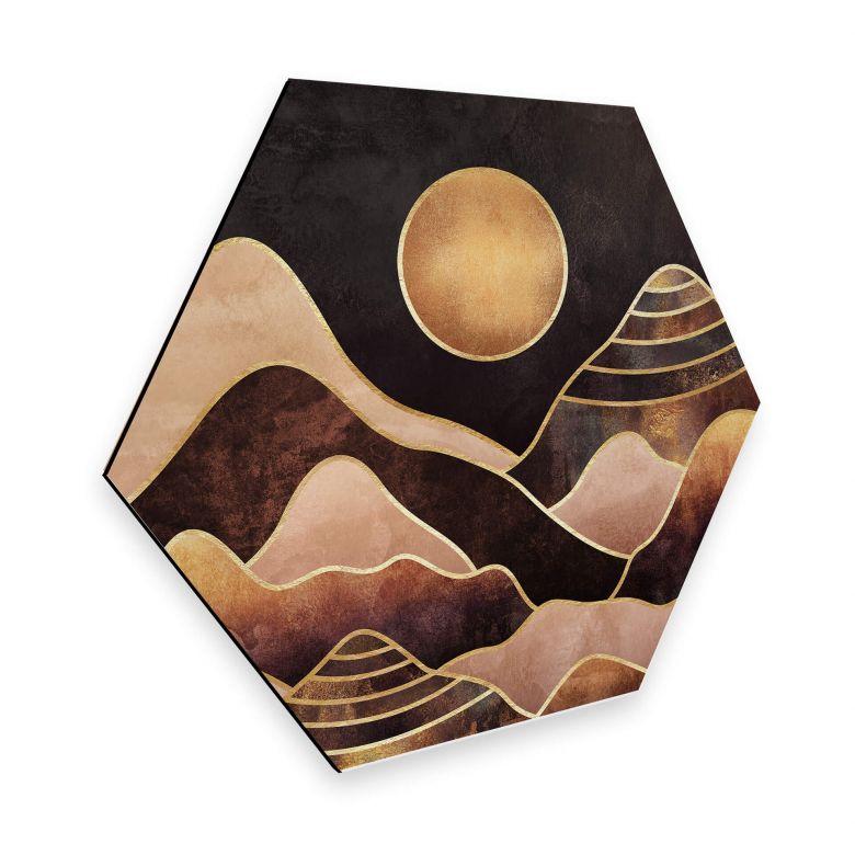 Hexagon Dibond Fredriksson - Sunset