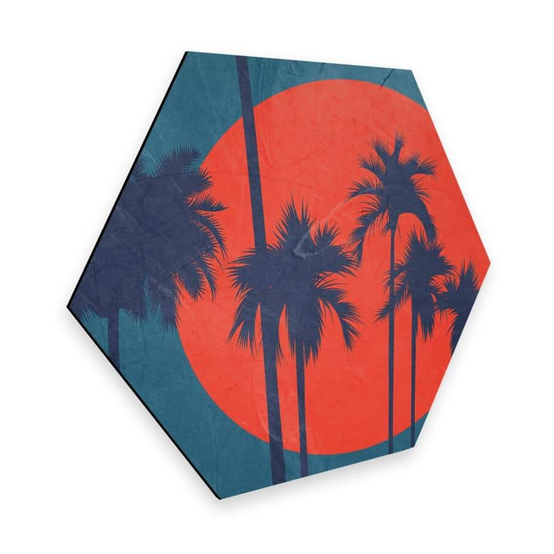 Hexagon - Alu-Dibond Kubistika - Côte d'Azur