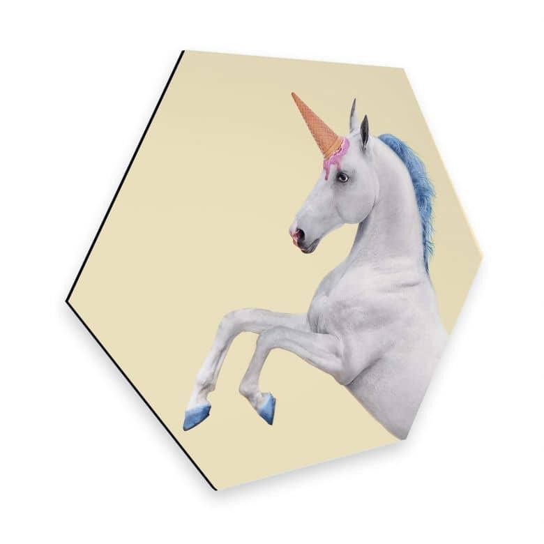 Esagoni in Alu-dibond Fuentes – Unicorn Icecream