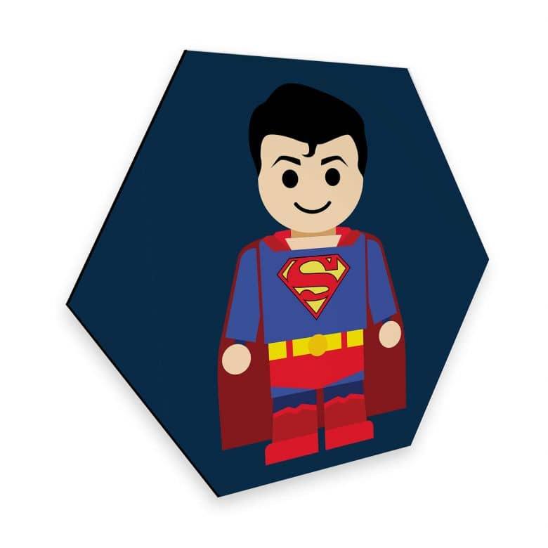 Hexagon - Alu-Dibond Gomes - Superman Toy