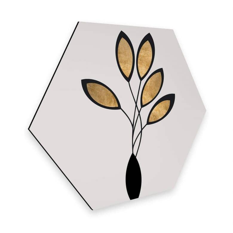 Hexagon Dibond Kubistika - Cinco