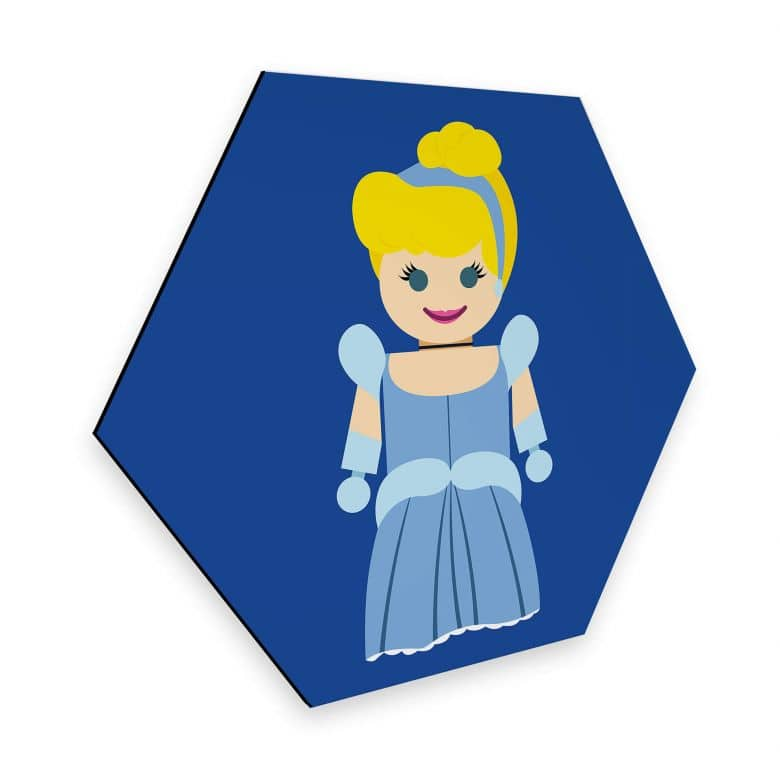 Hexagon - Alu-Dibond Gomes - Cinderella Spielzeug