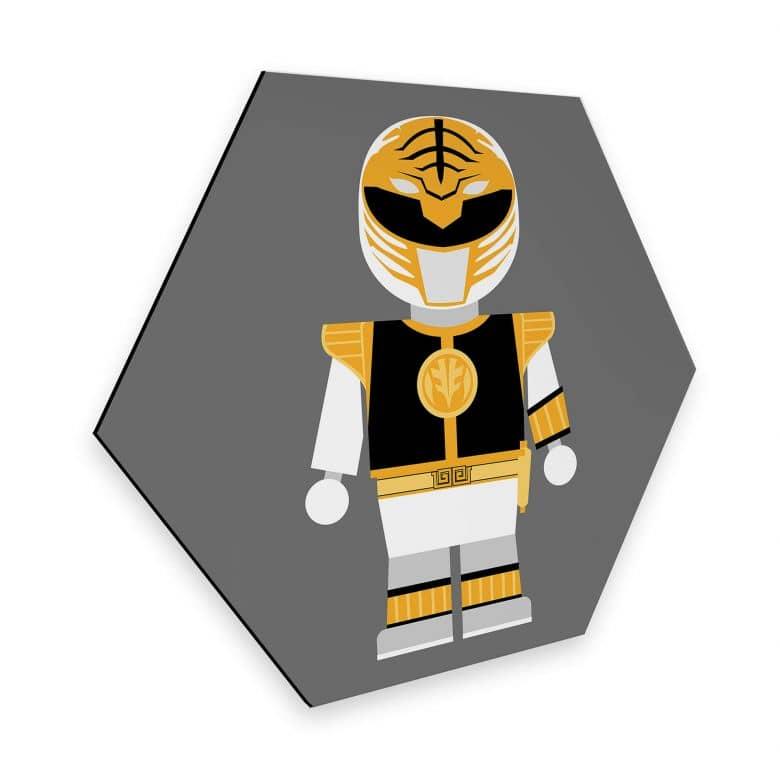 Hexagon - Alu-Dibond Gomes - Power Ranger Spielzeug