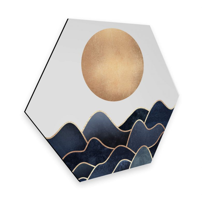 Hexagon - Alu-Dibond - Fredriksson - Waves