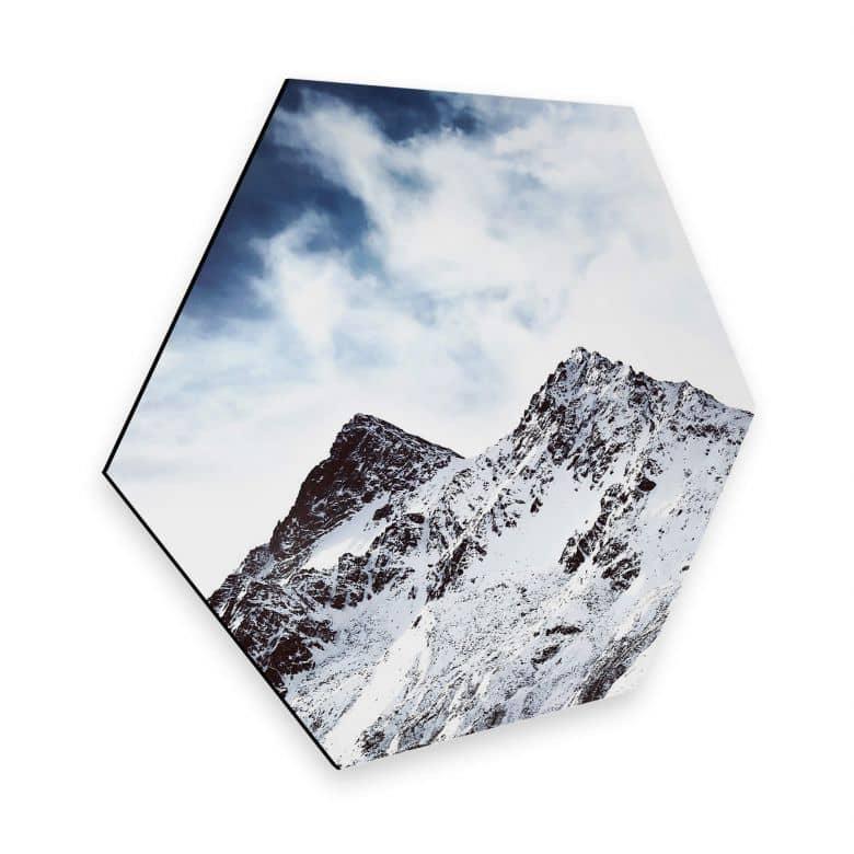 Hexagon - Alu-Dibond - Snow Mountain