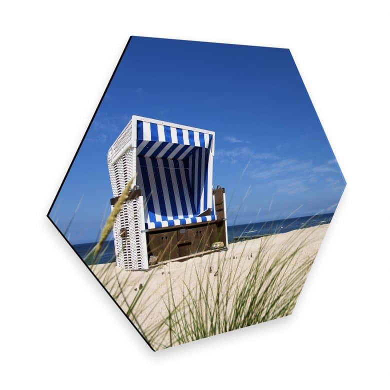 Hexagon - Alu-Dibond - Strandkorb