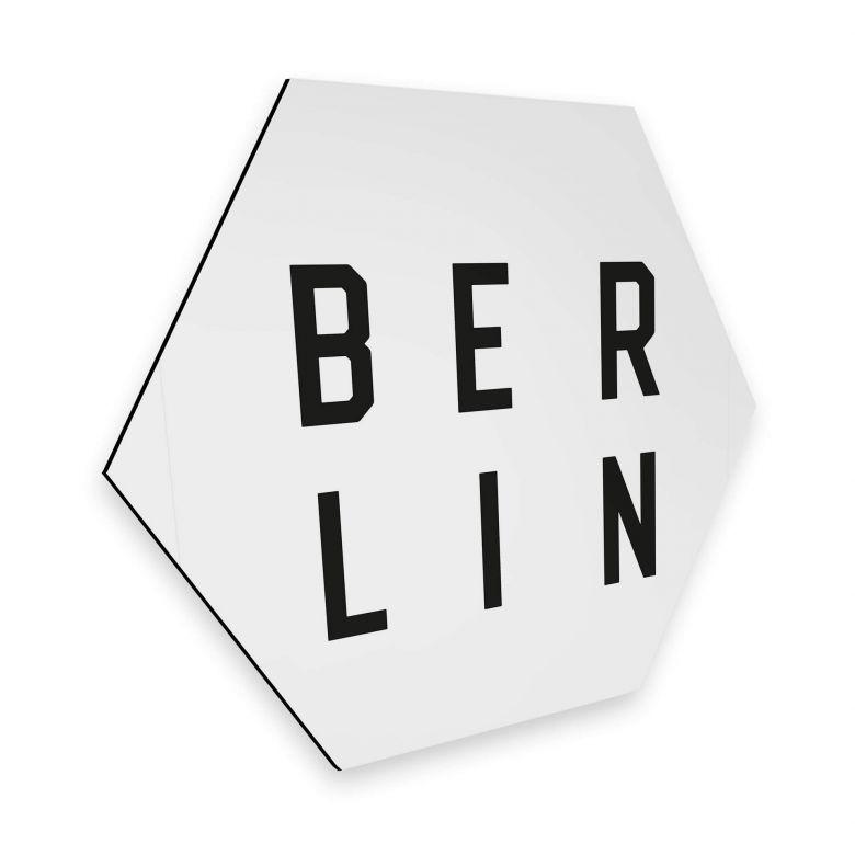 Hexagon - Alu-Dibond - Typografie Berlin