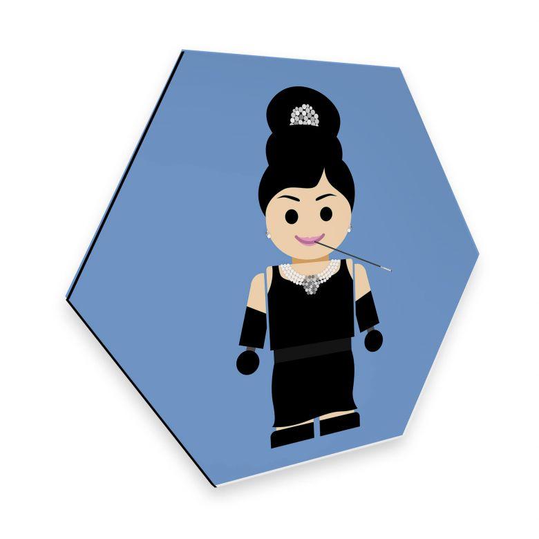 Hexagon - Alu-Dibond Gomes - Audrey Hepburn Spielzeug