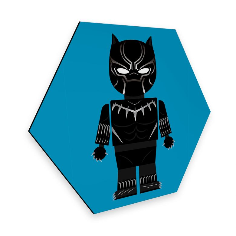 Hexagon - Alu-Dibond Gomes - Black Panther toy