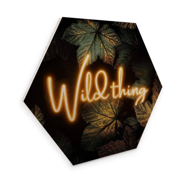 Hexagon - Holz Birke-Furnier Fredriksson - Wild thing