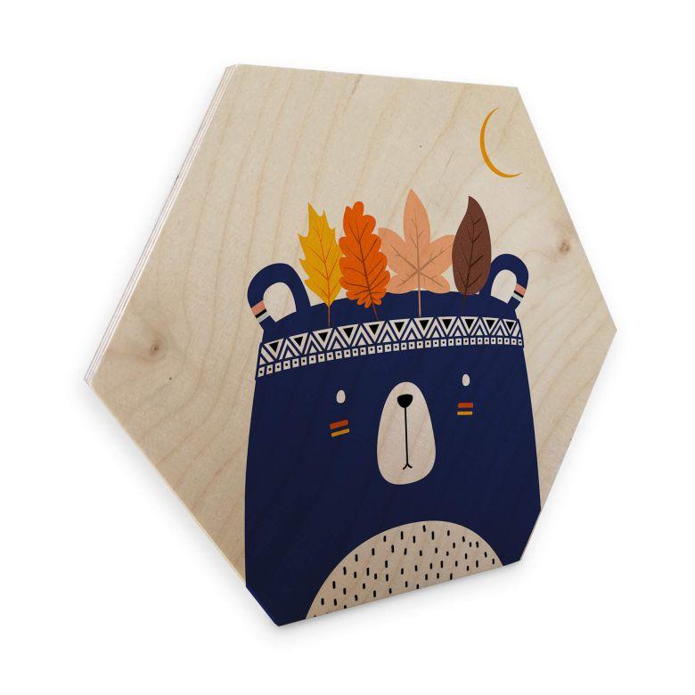 Hexagon - Holz Kubistika - Kleiner Indianer