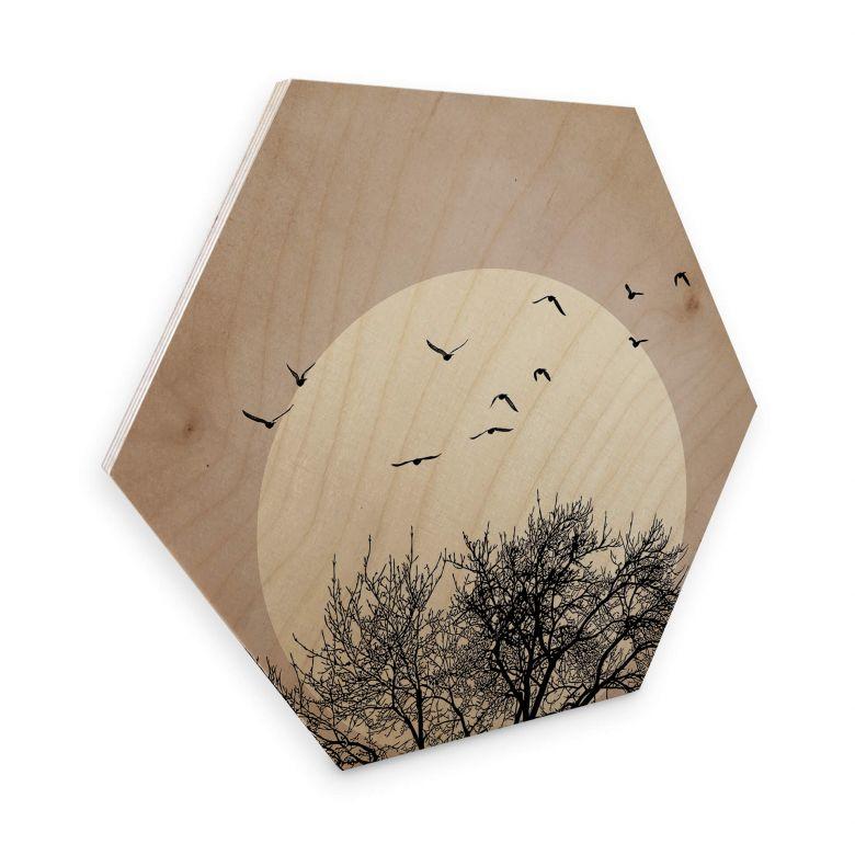 Hexagon - Holz Kubistika - Wintertraum