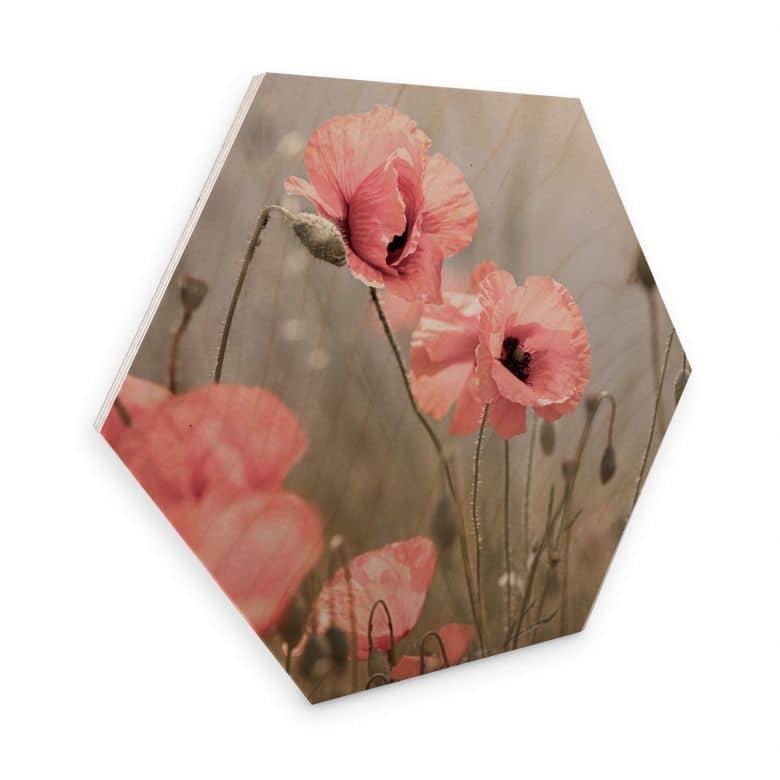Hexagon Hout - Delgado - Bloemenromantiek
