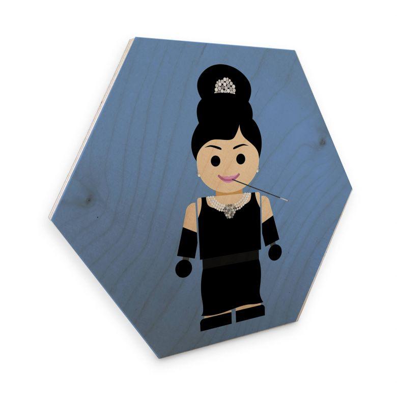 Hexagon - Holz Birke-Furnier Gomes - Audrey Hepburn Spielzeug