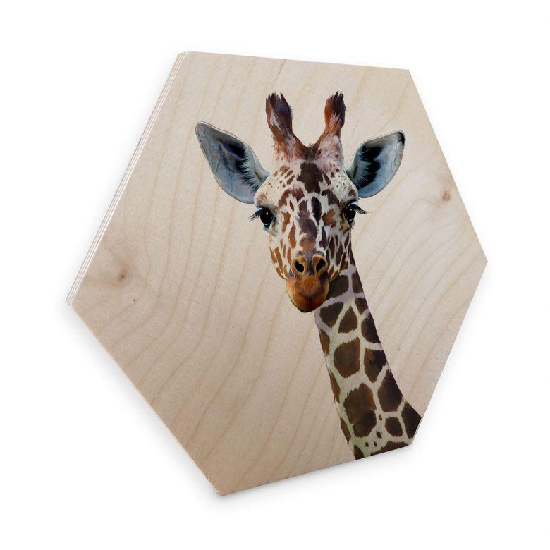 Hexagone - Placage bois de bouleau Graves - Girafe