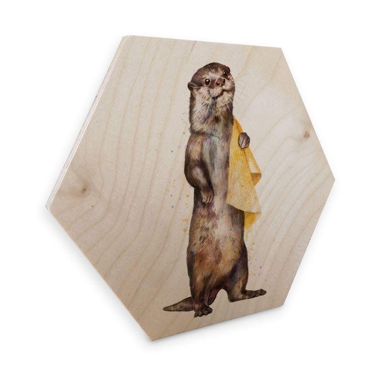 Hexagon Hout Berkenfineer Graves - Otter