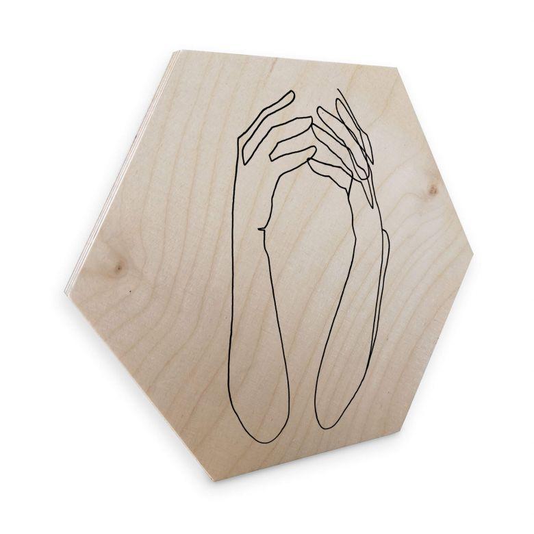 Hexagon - Holz Birke-Furnier Hariri - Desperate