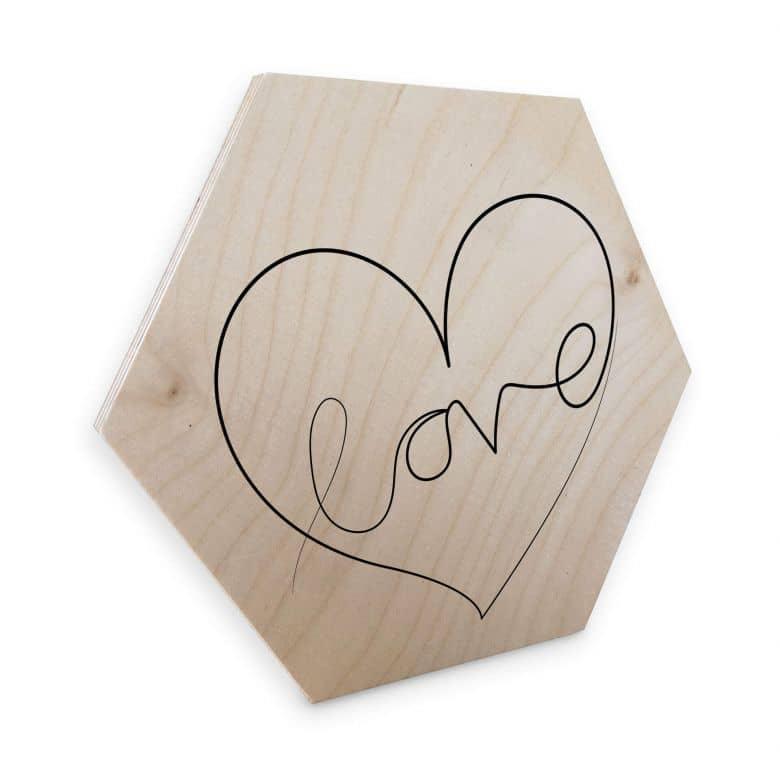 Hexagon birch wood - Hariri - Love Lines