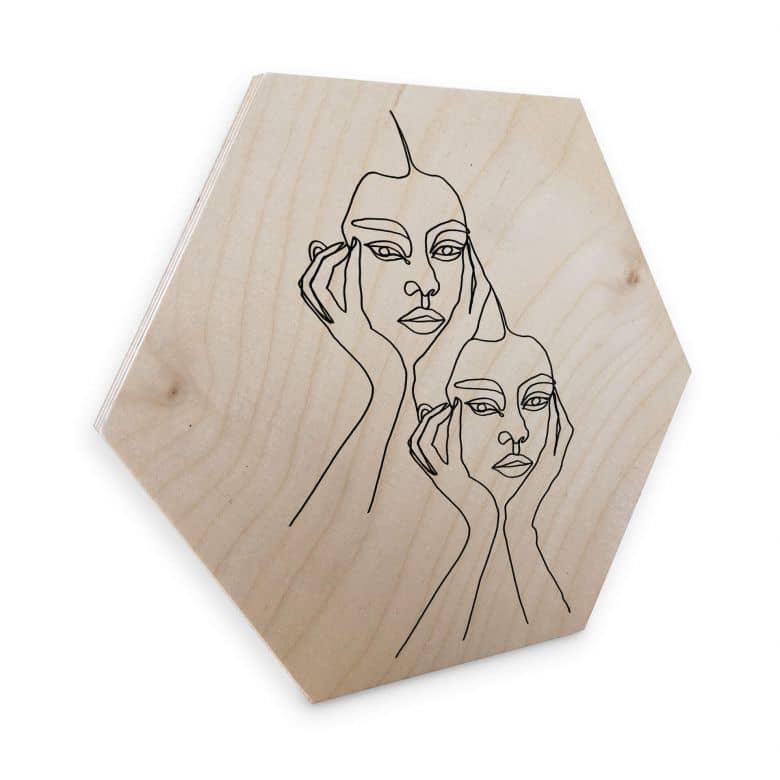 Hexagon - Holz Birke-Furnier Hariri - I'm pretty tired