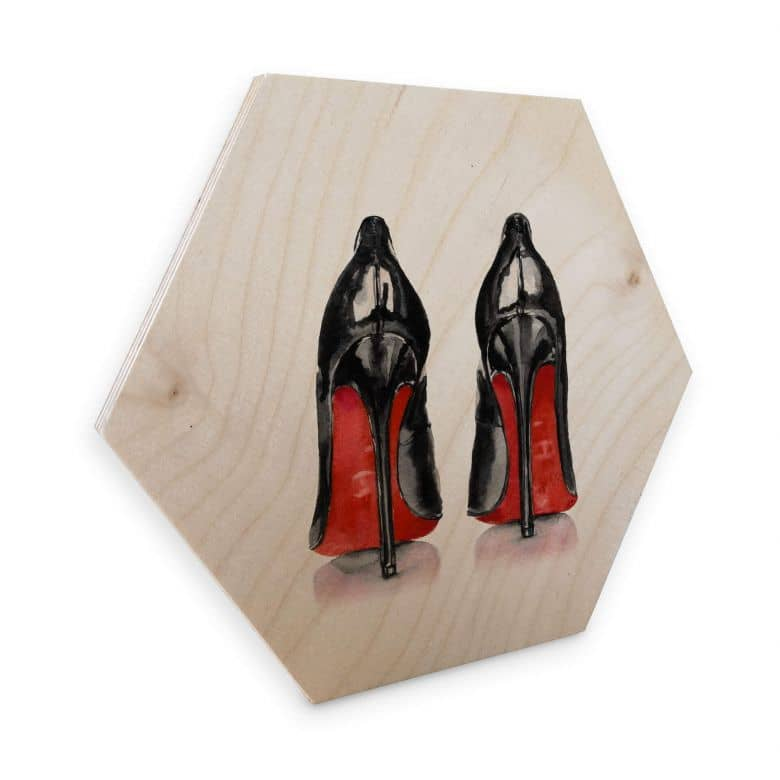 Hexagon - Holz Birke-Furnier High Heels