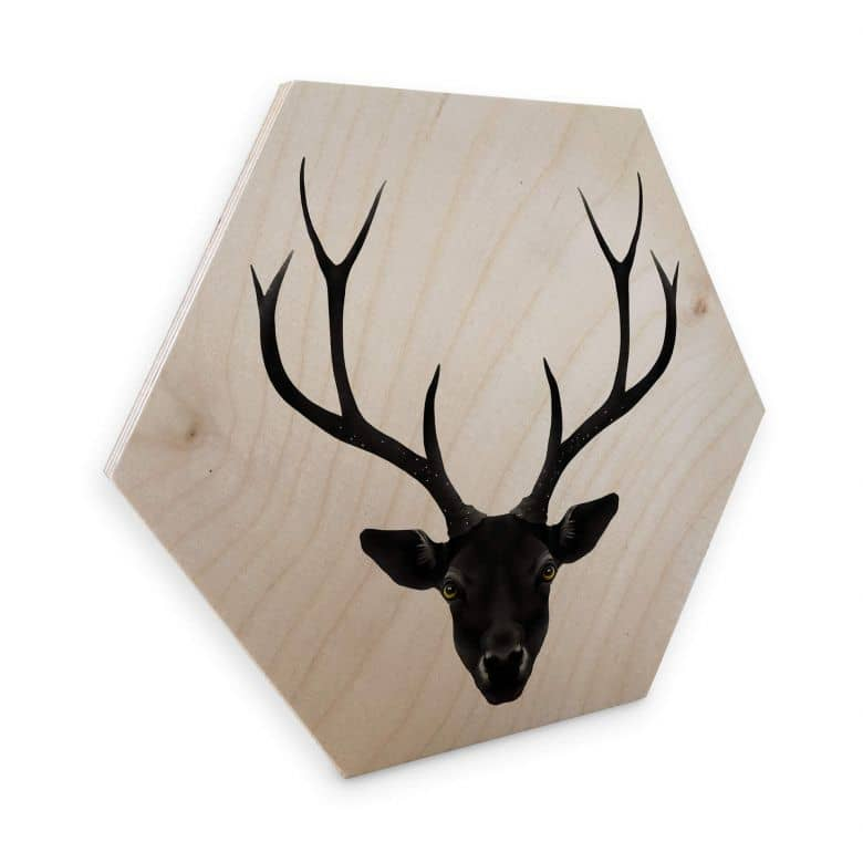 Hexagon - Holz Birke-Furnier Ireland - The Black Deer