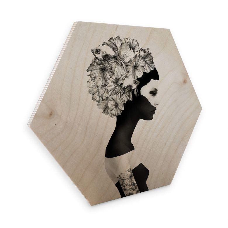 Hexagon - Holz Birke-Furnier Ireland - Marianna