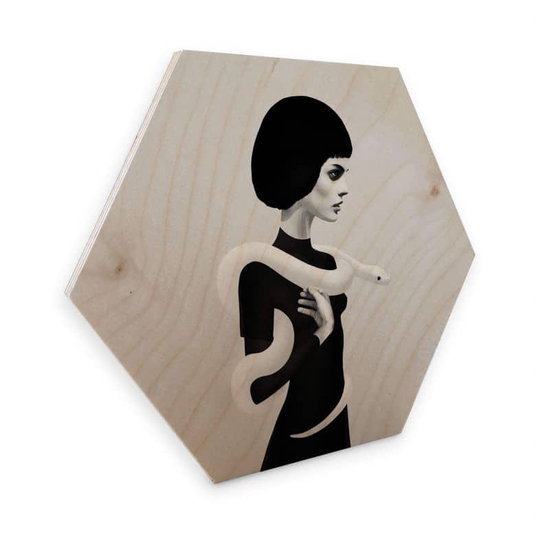 Hexagon - Holz Birke-Furnier Ireland - Only Skin