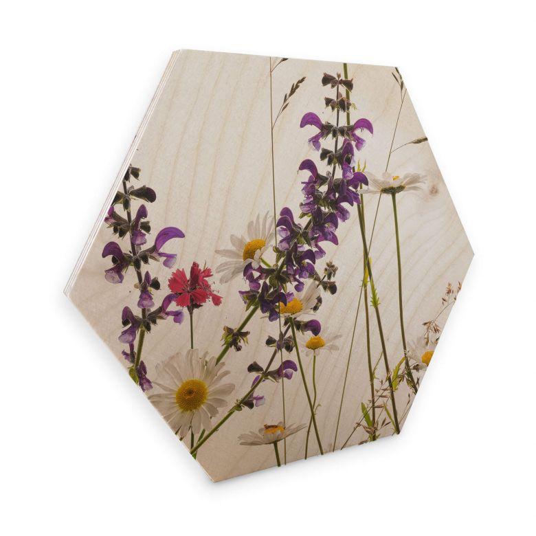 Hexagon Wood - Tan Kadam - Flora Marguerita