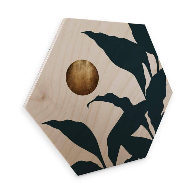 Hexagon - Holz Birke-Furnier Kubistika - In the jungle