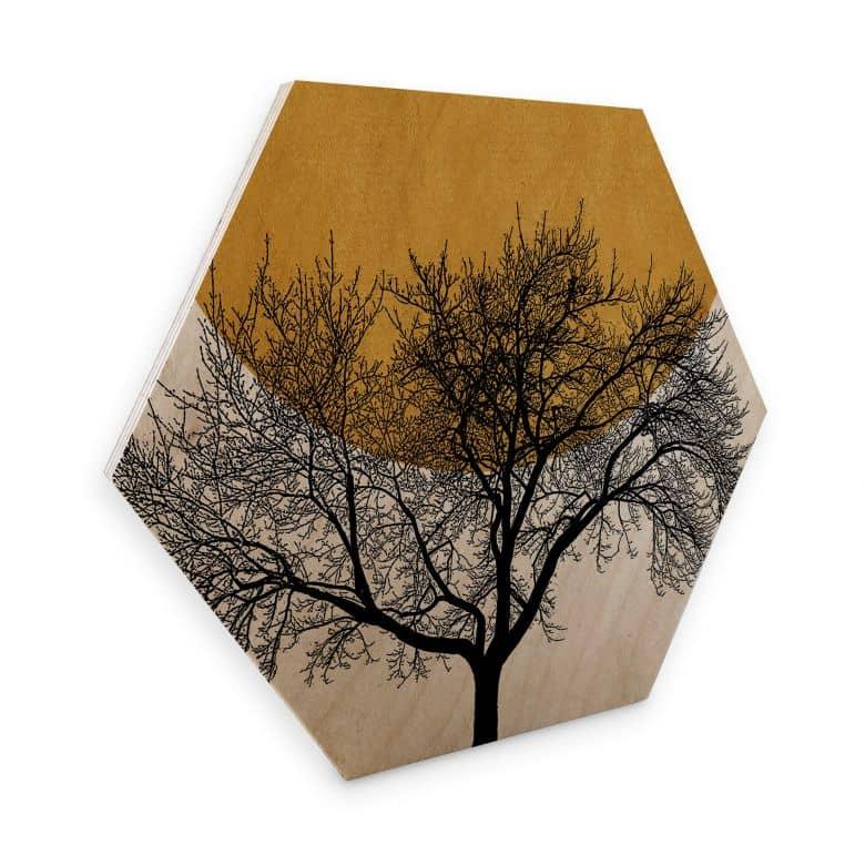 Hexagon Wood Kubistika - Winter Morning