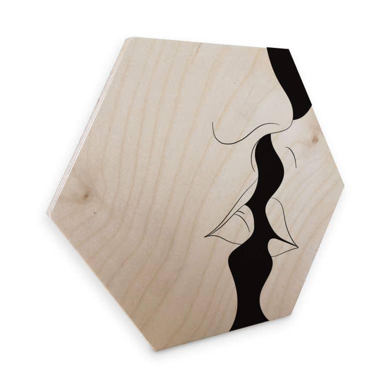 Hexagon Hout - Nordic Creators - Kiss