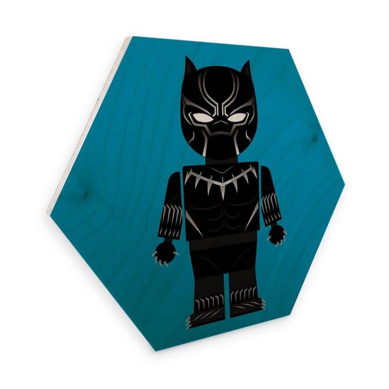 Hexagon - Holz Birke-Furnier Gomes - Black Panther Spielzeug