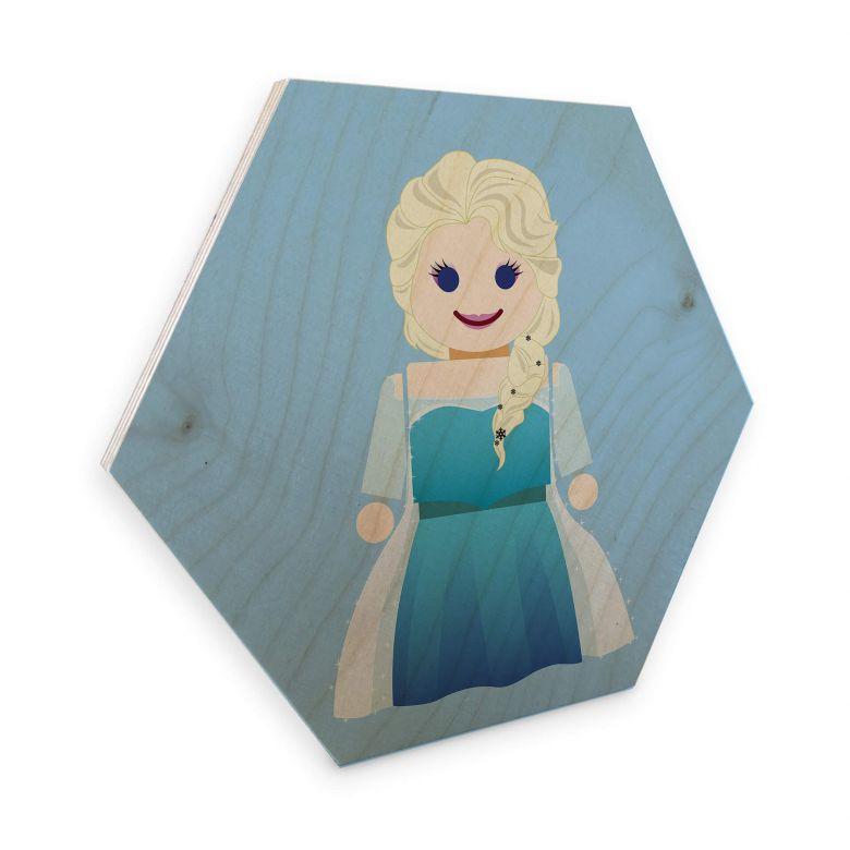 Hexagon - Birch veneer Gomes - Elsa Frozen toy