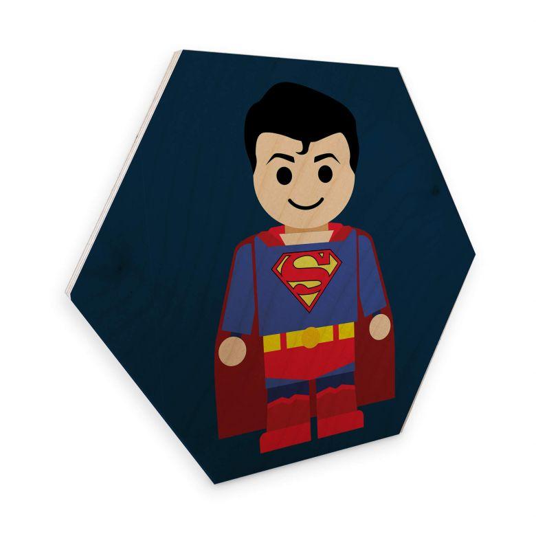 Hexagon - Holz Birke-Furnier Gomes - Superman Spielzeug